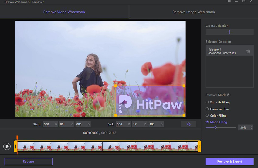 HitPaw Watermark Remover upload the video